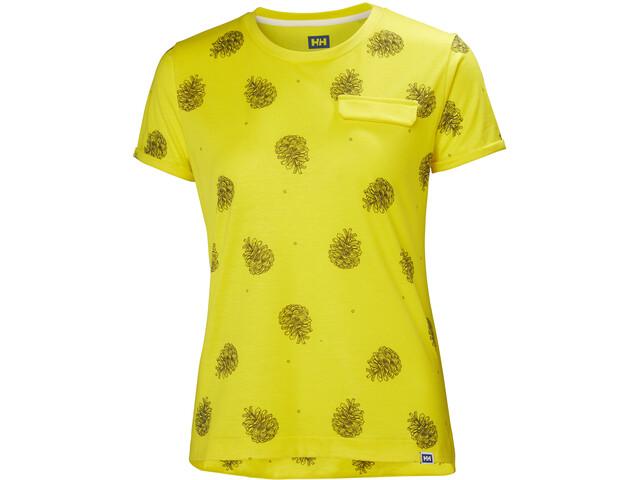 Helly Hansen Lomma T-shirt Dam dandelion print